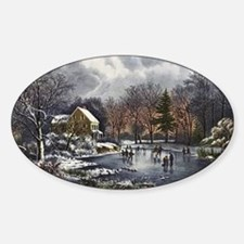 Early Winter Sticker (Oval)