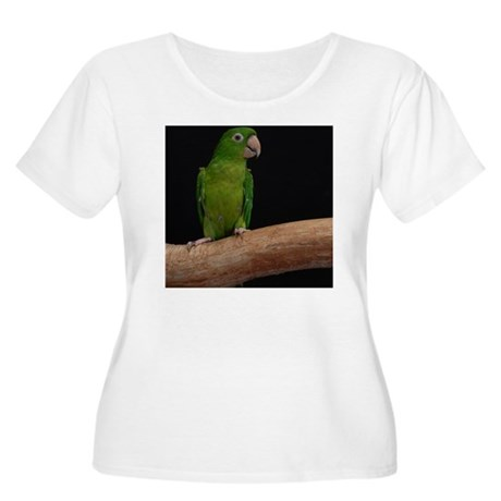 Green conure Women's Plus Size Scoop Neck T-Shirt