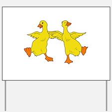 Dancing Ducks Yard Sign