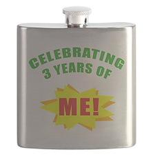 Celebrating Me! 3rd Birthday Flask