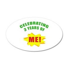 Celebrating Me! 3rd Birthday Wall Decal