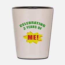 Celebrating Me! 3rd Birthday Shot Glass