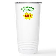 Celebrating Me! 3rd Birthday Travel Mug