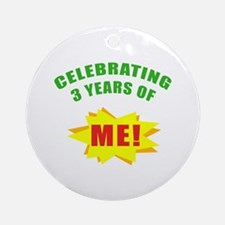 Celebrating Me! 3rd Birthday Ornament (Round)