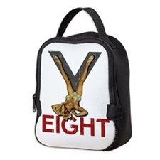 V8 Engine Power Pinup Neoprene Lunch Bag