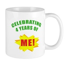 Celebrating Me! 4th Birthday Mug