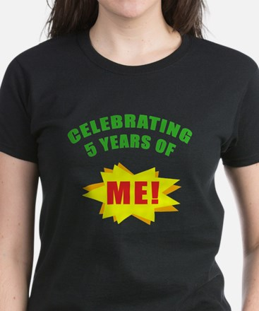 Celebrating Me! 5th Birthday Women's Dark T-Shirt
