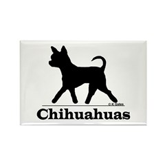 Chihuahua Silhouette Rectangle Magnet (100 pack)