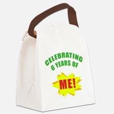 Celebrating Me! 6th Birthday Canvas Lunch Bag