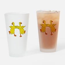 Dancing Ducks Drinking Glass