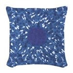 Little Swimmers - Blue Woven Throw Pillow