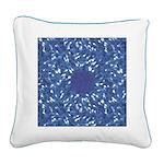 Little Swimmers - Blue Square Canvas Pillow