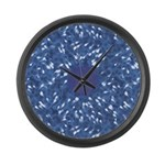 Little Swimmers - Blue Large Wall Clock
