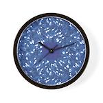 Little Swimmers - Blue Wall Clock