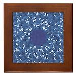 Little Swimmers - Blue Framed Tile