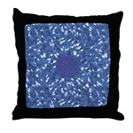 Little Swimmers - Blue Throw Pillow