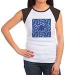 Little Swimmers - Blue Women's Cap Sleeve T-Shirt