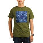 Little Swimmers - Blue Organic Men's T-Shirt (dark