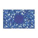 Little Swimmers - Blue Rectangle Car Magnet