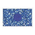 Little Swimmers - Blue Car Magnet 20 x 12