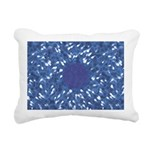 Little Swimmers - Blue Rectangular Canvas Pillow