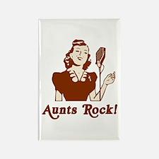 Retro Aunts Rock Rectangle Magnet