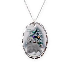 West Highland White Terrier Necklace Oval Charm
