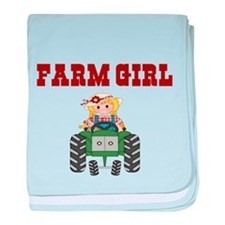 FARM GIRL baby blanket