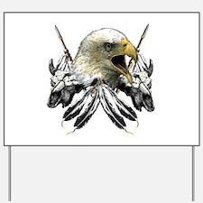 Buffalo Skull Eagle Yard Sign