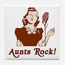 Retro Aunts Rock Tile Coaster
