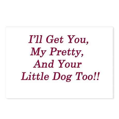 I'll Get You My Pretty Postcards (Package of 8)