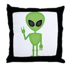 Aliens Rock Throw Pillow