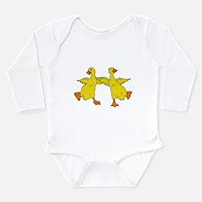 Dancing Ducks Long Sleeve Infant Bodysuit