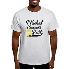 I Kicked Sarcoma Cancer Butt T-Shirt