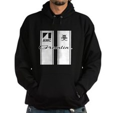 white Gremlin racing stripes Hoodie