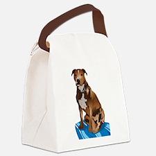 Pitbull Brown nbg Canvas Lunch Bag