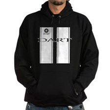 white Dodge Dart Racing Stripes Hoodie