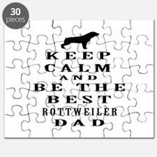 Rottweiler Dad Designs Puzzle