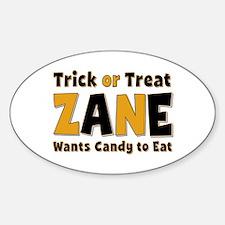 Zane Trick or Treat Oval Decal
