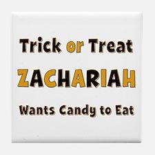 Zachariah Trick or Treat Tile Coaster