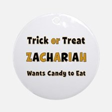 Zachariah Trick or Treat Round Ornament