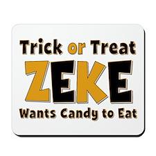 Zeke Trick or Treat Mousepad