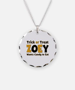 Zoey Trick or Treat Necklace