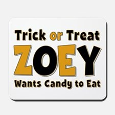Zoey Trick or Treat Mousepad