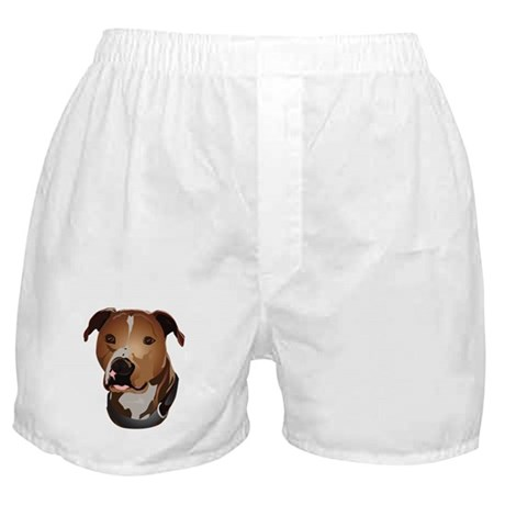 Pitbull head portrait Boxer Shorts