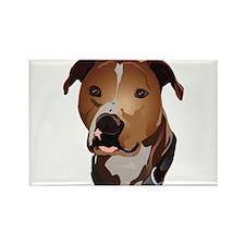 Pitbull head portrait Rectangle Magnet