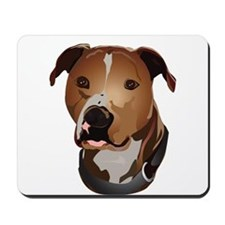 Pitbull head portrait Mousepad