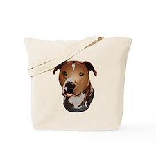 Pitbull head portrait Tote Bag