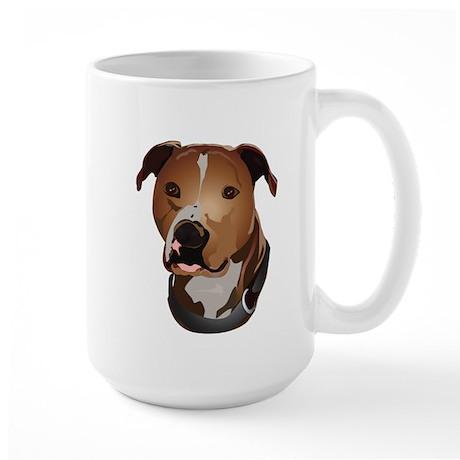 Pitbull head portrait Mug