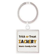 Zachery Trick or Treat Square Keychain